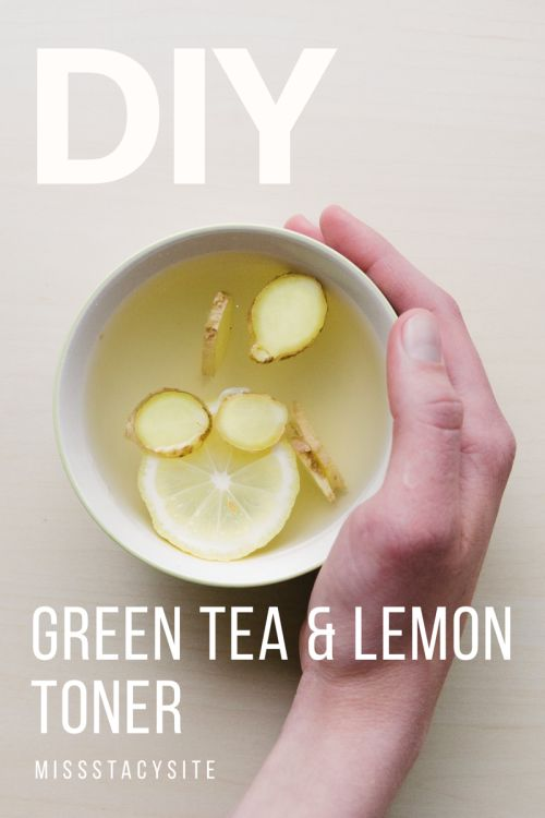 DIY green tea and lemon toner