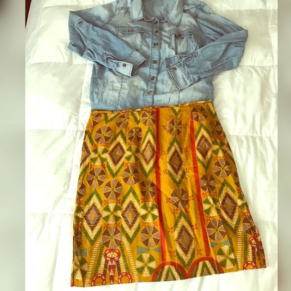 Beautiful Tribal Print Skirt Beautiful Tribal Print Skirt. Excellent Condition. True to size. No stretch vintage  Skirts