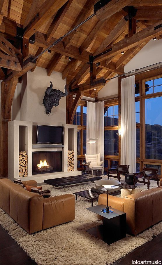 Love the beams and windows