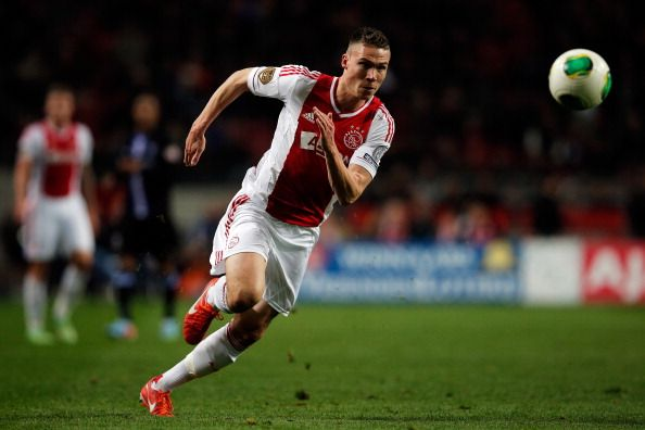 Derk Boerrigter of Ajax (now Celtic) in action during the  Eredivisie match between Ajax Amsterdam and SC Heerenveen at Amsterdam Arena on April 19, 2013 in Amsterdam, Netherlands