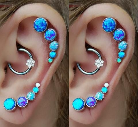 Cute Cartilage Helix Ear Piercing Jewelry Earrings at MyBodiArt