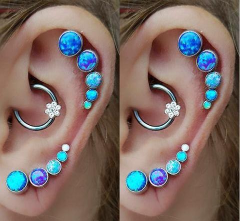 Cute Cartilage Helix Ear Piercing Jewelry Earrings at MyBodiArt