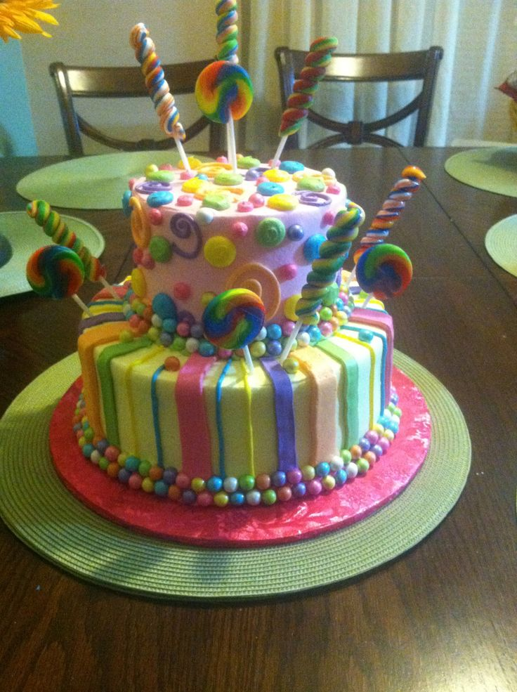 Candy birthday cake cakes and desserts pinterest