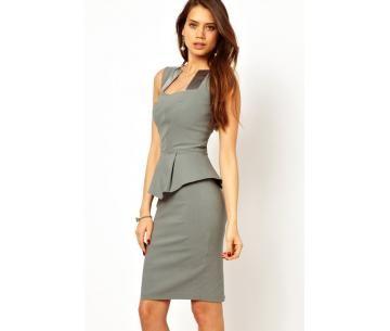 Net, grijs jurkje met peplum taille, nu voor maar € 8,95