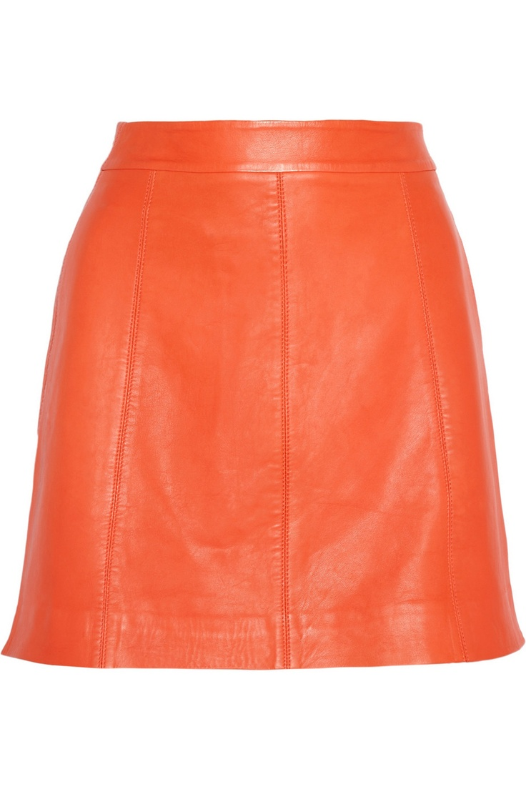 Marc by Marc Jacobs | Jett leather A-line mini skirt | NET-A-PORTER.COM