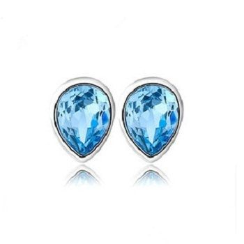 Find More Stud Earrings Information about Womans Earrings Small Simulated Diamond Brincos Baratos Fashion Blue Crystal Drop Water 925 Silver Jewelry Wholesale Ulove YC43,High Quality jewelry display cases -,China jewelry set for men Suppliers, Cheap jewelry nj from ULove Fashion Jewelry Store on Aliexpress.com
