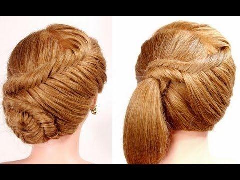 "2 прически на каждый день. Плетение ""рыбий хвост"". Easy fishtail braid hairstyles - YouTube"