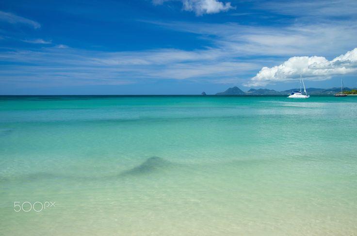 "Tropical Paradise Landscape - Caribbean Tropical Island Paradise Landscape Photography. From ""Caribbean"" photo series."