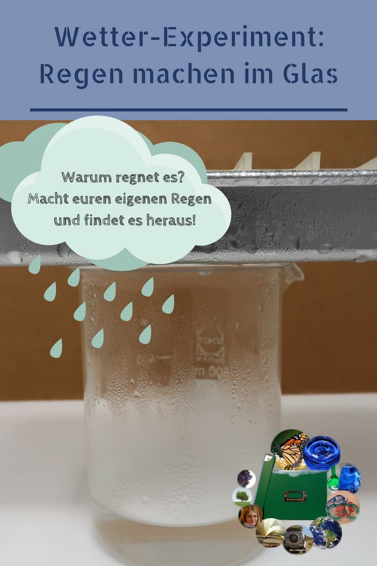 Wetter-Experiment: DIY-Regen im Glas – Sandra Widmer