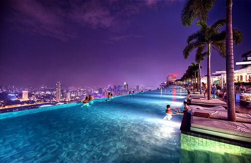 Infinity Pool Marina Bay Sands Singapore Wander Wall