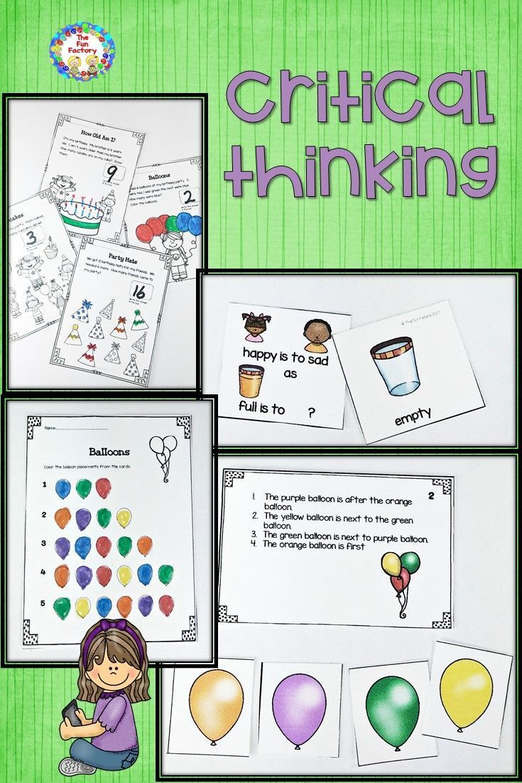 Critical Thinking Analyze Compare Contrast Inferences Higher Level Thinking Skills Center Activities Worksh The Fun Factory Critical Thinking Activities [ 1102 x 735 Pixel ]