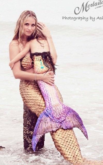 Mother daughter custom mermaid tails by  mertailor.com
