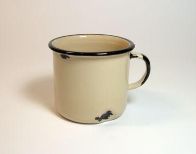 """""""Tak! Jestem z ceramiki!"""" - kremowy kubek // Agaf Design"""
