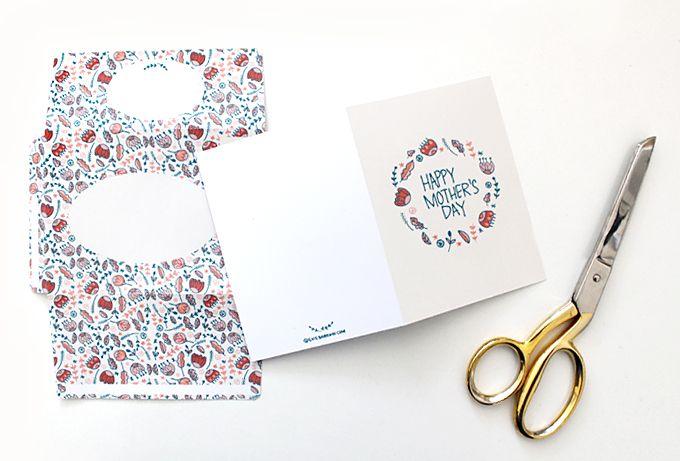 DIY Printable : Mother's Day Card & Envelope — Evie Barrow