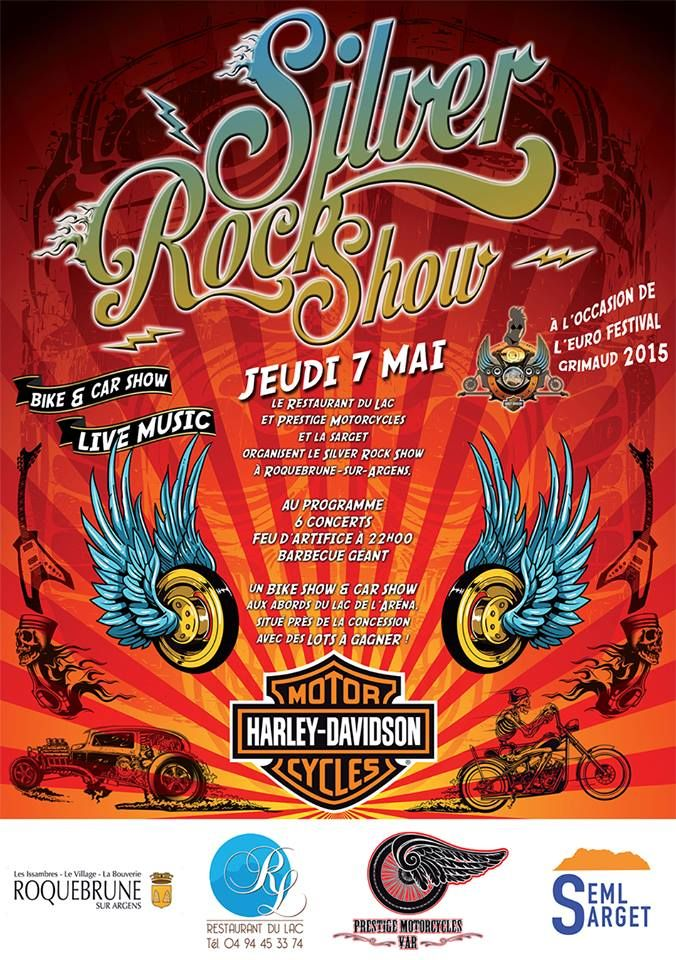 6 concerts, feu d'artifice, barbecue géant, show bike & show car, stands old school...