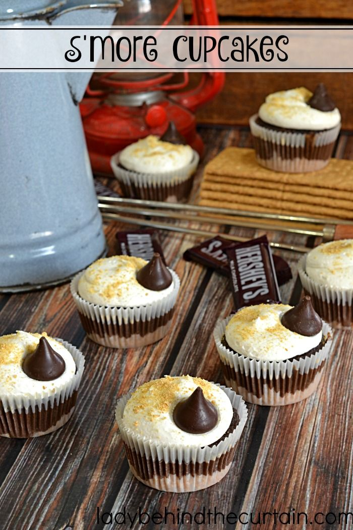 Easy S'more Cupcake Recipe | Bring back childhood memories of sitting around the…