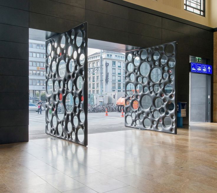 Sculptural Ductal Concrete Doors Welcome You To Train Station In Geneva. Desigend by Carmen Perrin & 16 best images about design inspiration on Pinterest   Modern ... Pezcame.Com