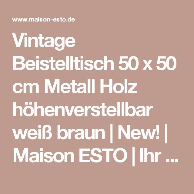 Vintage möbel weiss braun  Best 25+ Beistelltisch höhenverstellbar ideas on Pinterest ...