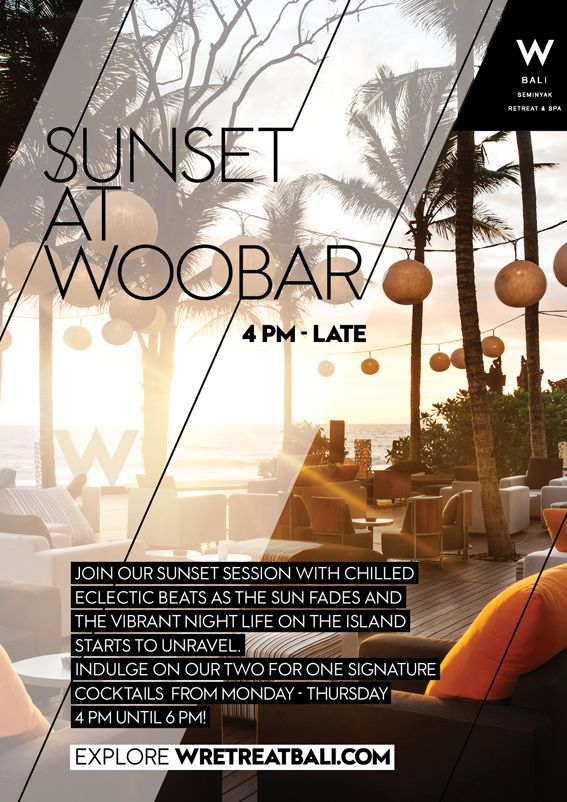 Enjoy athe Nice balinese sunset everyday in W hotel #bali #guide #w hotel #woobar #event #party