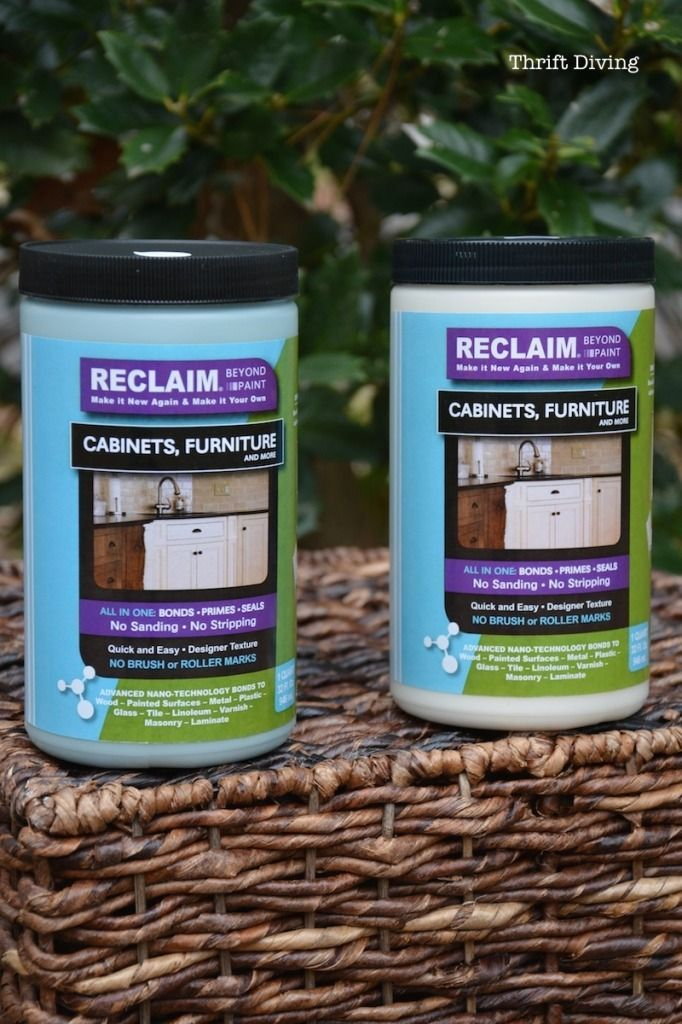 China Cabinet Makeover with RECLAIM Paint - ThriftDiving.com paint comparison to AS