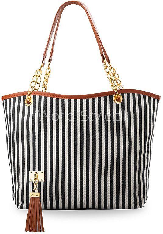 MODNA PŁÓCIENNA TOREBKA ŁÓDKA - CZARNA - Galanteria skórzana - torebki damskie, portfele, teczki, aktówki, torby, saszetki. Sklep World-Style.pl