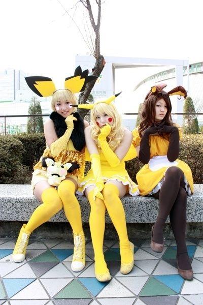 Pokémon gijinkas | Pikachu evolution cosplays | Pichu, Pikachu & Raichu | Buzzfeed