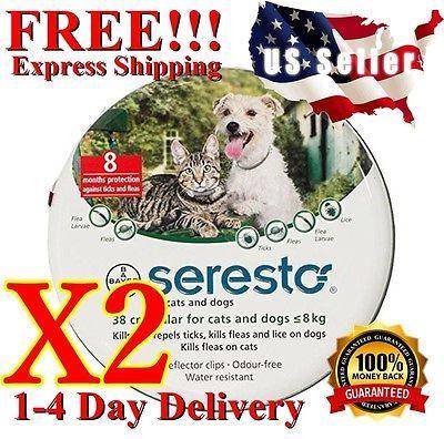 ❤️ x2 Bayer Foresto Seresto Flea & Tick Collar for Small Dogs Cats under 18lbs