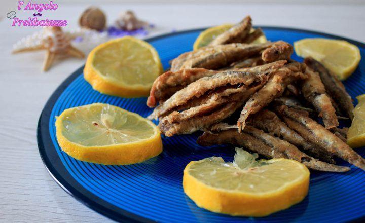 Masculini fritti, alici fritte, secondo piatto siciliano