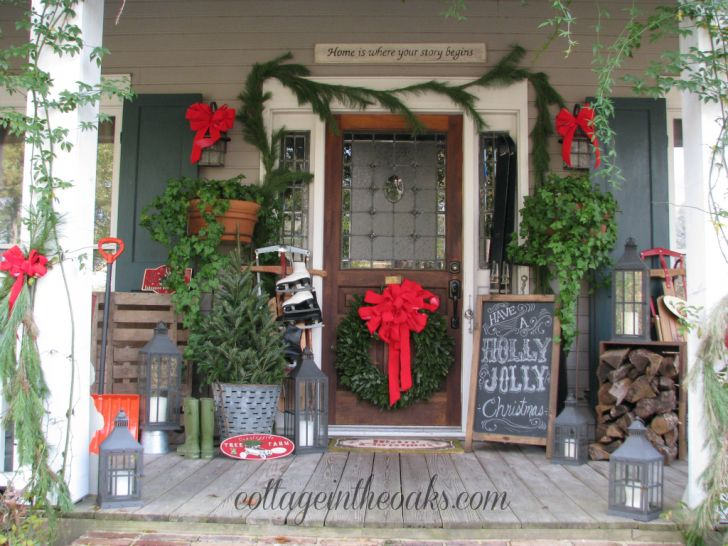 Decorating Front Doors For Homes Home Depot Decorating Front Door For Christmas Wilderness Lodge Christmas Decorations 728x546 Home Interiors Wall Decor Front Door Christmas Decorating Ideas
