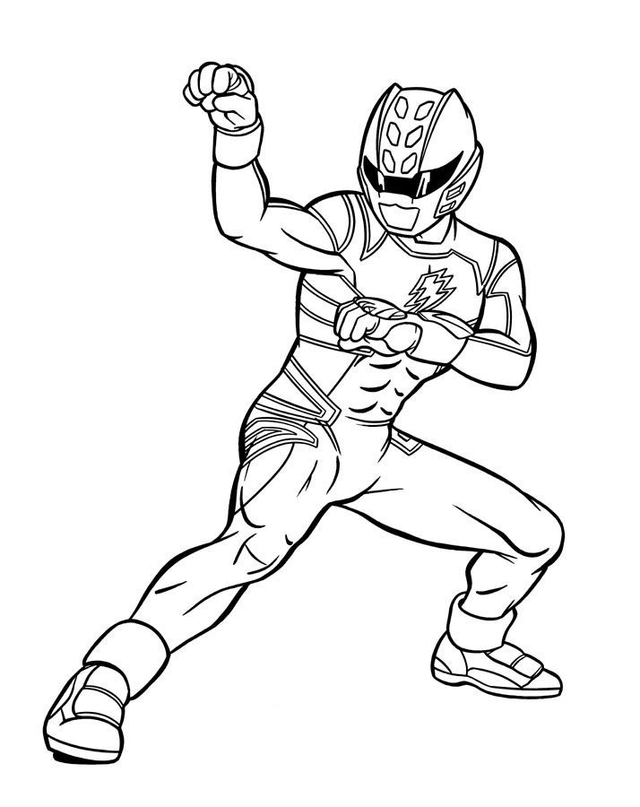 Blue Power Ranger Jungle Fury Power Rangers Coloring