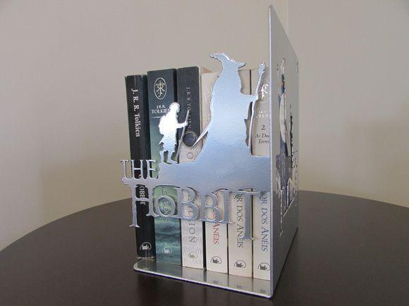 """Bibliocanto """"The Hobbit"""" Aço"""
