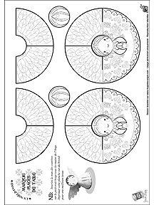 Vous avez adoré les découpages du Noël Russe ? Alors vous allez adorer les découpages du Noël Danois, avec notamment des petits anges qui auront la vedette sur votre table de Noël ! Merci beaucoup à l'illustratrice Séverine Aubry pour ses merveilleuses décorations, à réaliser par toute la famille. Et poursuivez en famille la découverte du Danemark en imprimant des coloriages des Pays du Monde... Et surtout : Joyeux Noël !