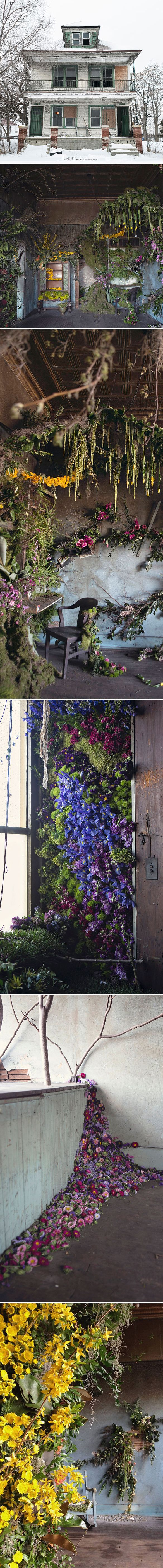 The Flower House, a stunning project by Detroit based flower designer Lisa Waud…