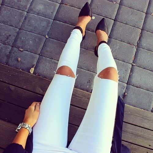girl fashion outfit style clothes hair lips eyes beauty jeans shoes high heels