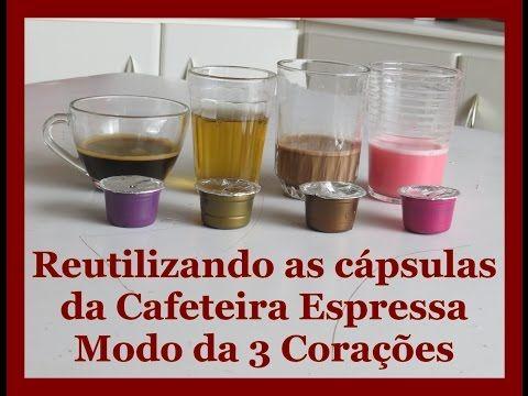 Reutilizando cápsulas da Cafeteira Espressa Modo da Tres Corações - YouTube