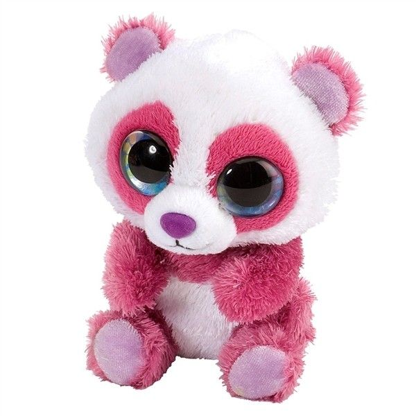 Cherry the Lil Sweet and Sassy Stuffed Pink Panda by Wild Republic at... ($5.99) ❤ liked on Polyvore featuring stuffed animals, bear, pink, plush and plush animal