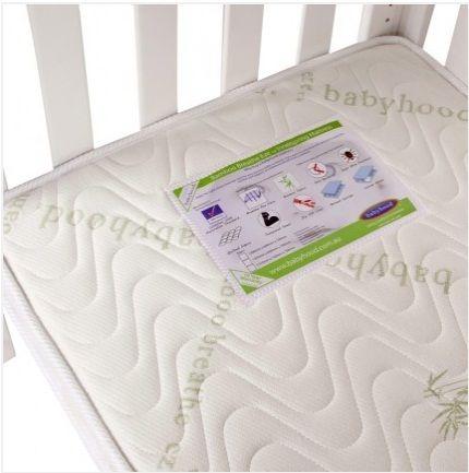 The Babyhood Breathe Eze Organic Bamboo Orthopedic Innerspring Baby Cot Mattress Is Perfect