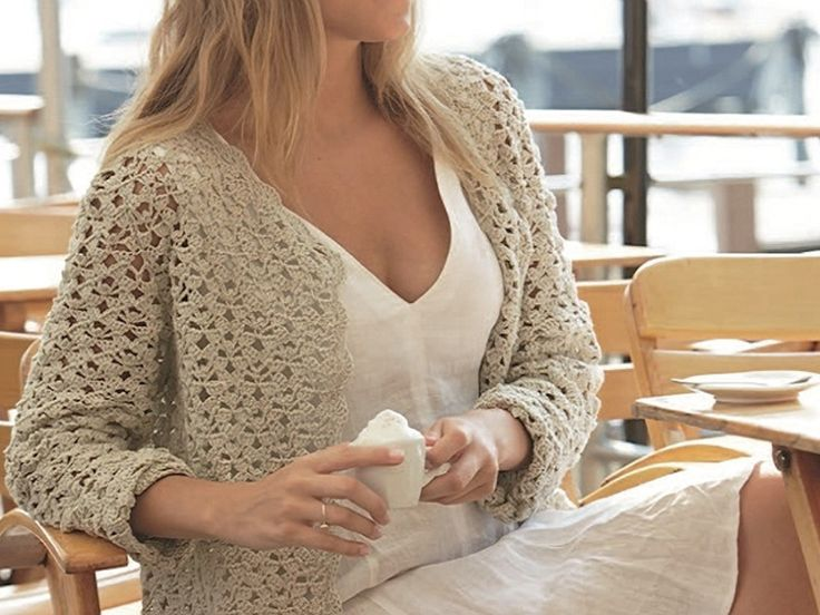 DIY-Anleitung: Sommerjacke häkeln / diy knitting tutorial for a summer jacket via DaWanda.com
