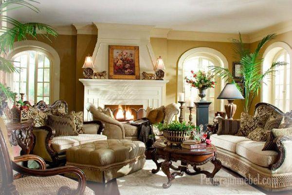 Ruang keluarga desain klasik