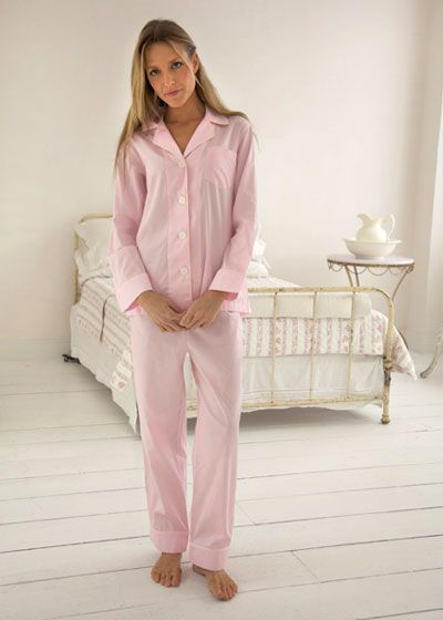 Women's Egyptian Cotton Pajamas- Jam $178 #cottonpajamas #olist #madeintheusa #bestpajamas #luxurypajamas #pajamas