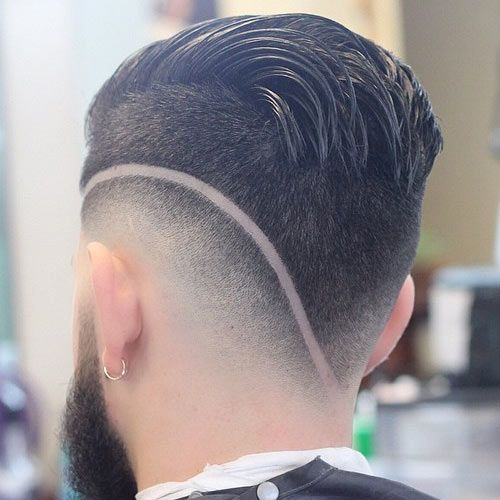 High-low fade plus #hairdesign.