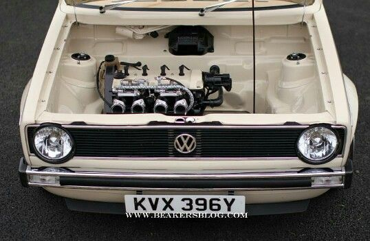 Clean mk1 Golf engine bay