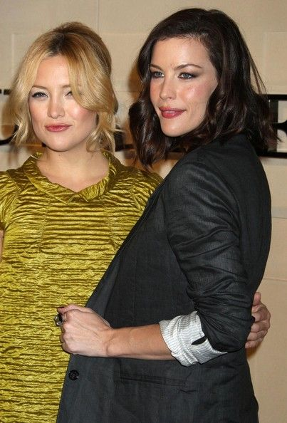 Kate Hudson & Liv Tyler Stana Katic at Burberry Beverly Hills Store Re-Opening, Burberry Store, Beverly Hills, CA.