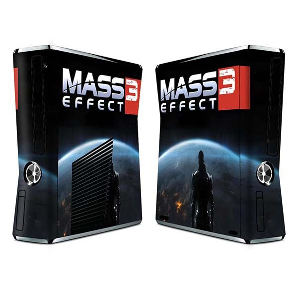 Mass effect 3 sticker skin set for xbox 360 slim