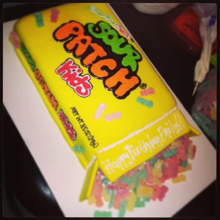 Emily S Sour Patch Kids Birthday Cake My Creations