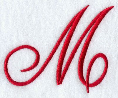 Monogram Script Letter M - 4 Inch