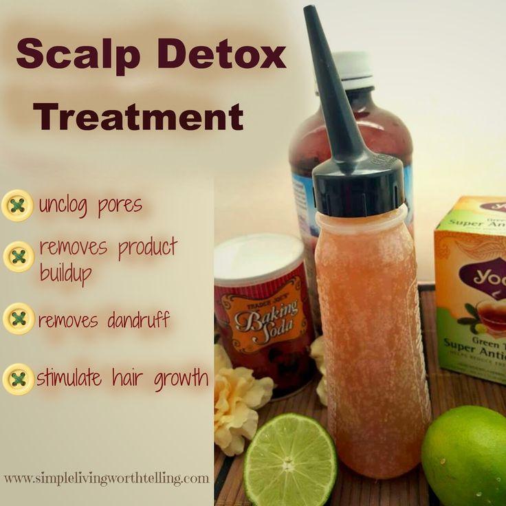 Simple Living Worth Telling !: DIY SCALP /HAIR DETOX (Green Tea + Aloevera + Baking Soda + Lemon )