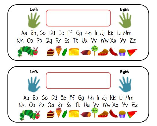 Desk name tags - A range of cute desk name tags for your students including one with a very hungry caterpillar theme