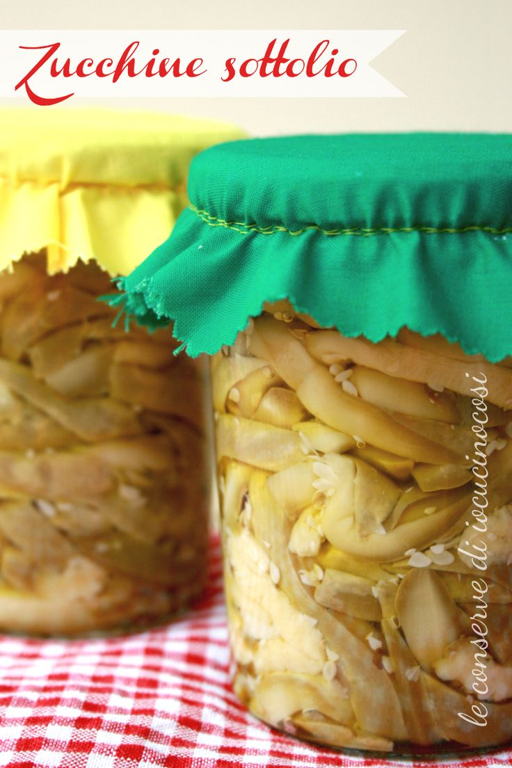 Zucchine sottolio - Ricetta con aceto senza cottura