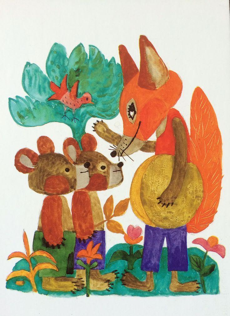 REICH KÁROLY Tale illustration, aquarelle (Meseillusztráció, akvarell) by BI